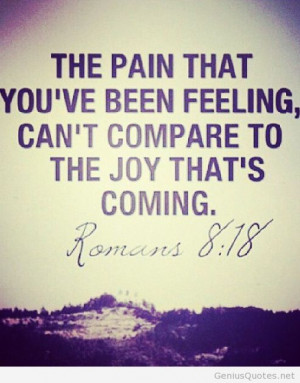 Feeling the pain quote romans