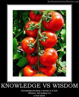 ... poster | fruit-tomato-knowledge-wisdom-bestdemotivational-posters