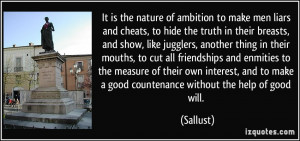 Liars Be Like Quotes More sallust quotes