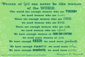 Women Of God Can Never Be Like Woman Of The World