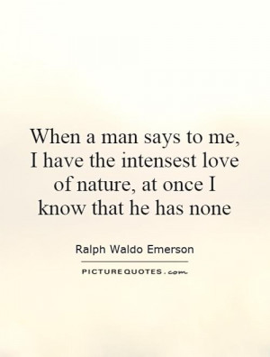 an analysis of the mans relationship to nature Emerson's nature summary and analysis major themes relationship of man and nature both man and nature are expressions of the divine, emerson declares in nature.