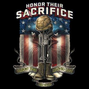 Details about Patriotic Tshirt POW KIA MIA Honor Their Sacrifice War ...