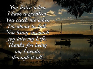 Saying thank you to your friends - quotes and messages