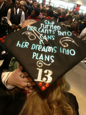 graduation cap quote
