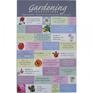 Magnets Set - Gardening Quotes