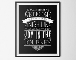 LDS Quote Print Black and White Art Print Typography Motivational ...