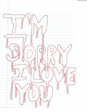 Sorry I Love You Graphic