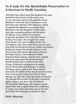 Phillis Wheatley Famous Quotes