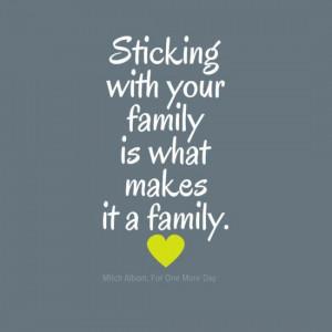 Family Sticks Together