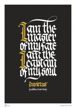 Inspirational quotes: Invictus (William Henley) poem poster
