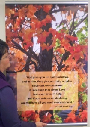 for some autumn color this quote from mary baker eddy set against fall ...