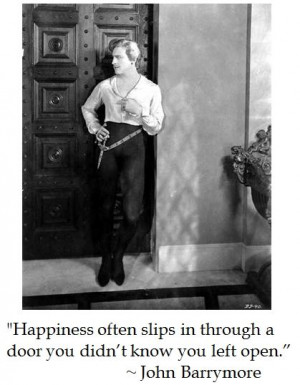 John Barrymore on #happiness #quotes