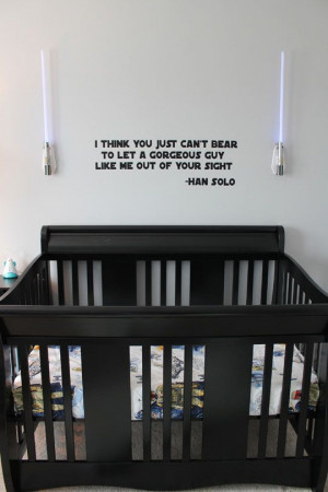 Star Wars Love Quotes Rocky's #starwars baby nursery