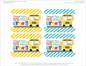 ... and a School Bus Driver Appreciation Gift — super easy to package