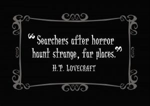 Delightfully Dark Quotes: H. P. Lovecraft