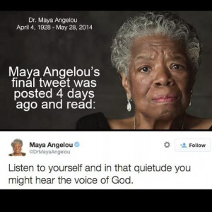 ... Peace! Maya Angelou Dies at 86 - READ Some of Her Inspirational Quotes