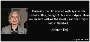 the film opened with Ryan in the doctor's office, being told his wife ...