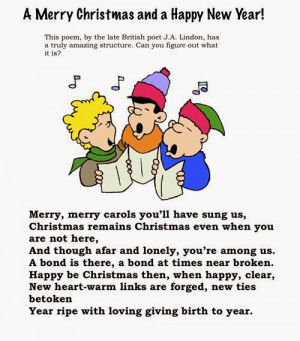 The Christmas Poems As Well As The Rhymth Of The Songs, I'm Sure Your ...