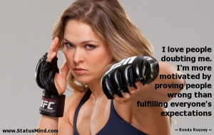 Photo found with the keywords: Ronda Rousey quotes