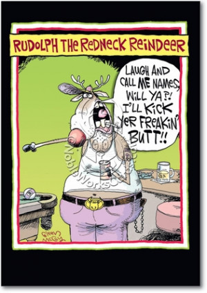 Redneck Reindeer Humor Greeting Card