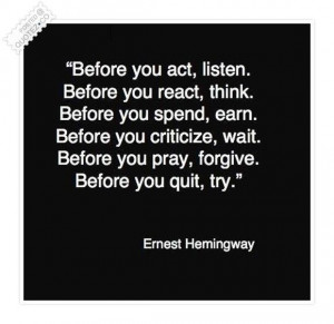 Try before you quit quote