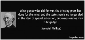 More Wendell Phillips Quotes