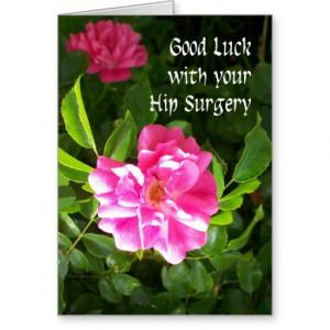 Hip Surgery Good Luck Card