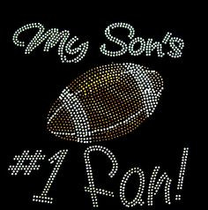 My son's number 1 fan football rhinestone for by loveforbling, $5.49