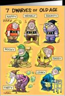 Old Age Dwarfs Humor Card
