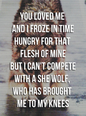 ... tagged she wolf sia tagged sia she wolf tagged she wolf tagged quote
