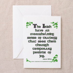 ... Greeting Cards > Funny Oscar Wilde Quote Greeting Cards (Package of