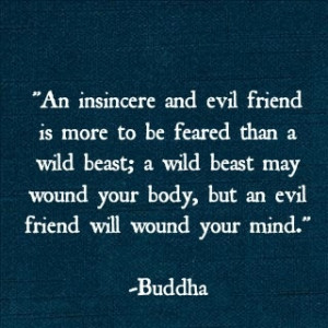 Buddha Quote Evil Friends
