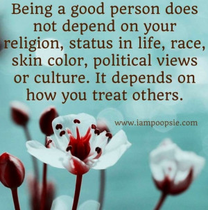 Being a good person quote via www.IamPoopsie.com