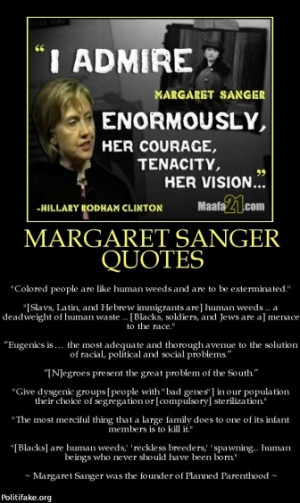 margaret sanger quotes tags hillary clinton sanger abortion racist ...