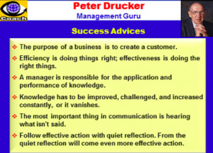 Peter Drucker ,Leadership , Management Quotes, Pictures, MBA Quotes ...
