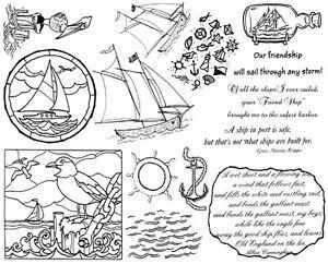 ... Rubber Stamp Sheets, Nautical, Sailboat, Sayings Sailing Quotes Anchor