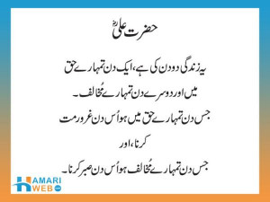 Hazrat Ali Quotes In Urdu About Life
