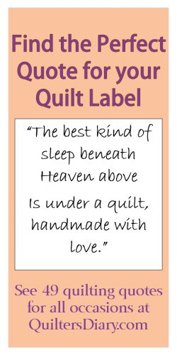 Quilt Label Quotes and Sayings