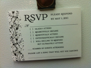 Wedding RSVP Reveals How Some People Feel About Attending Nuptials ...