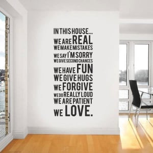 Make a big statement about your family home with a big quote.