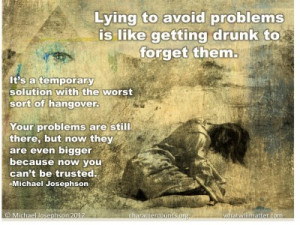 Post image for QUOTE & POSTER: Lying to avoid problems is like getting ...