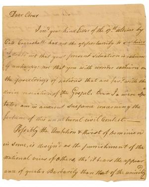 Description Phillis wheatley letter to obour tanner 1776 front.jpg