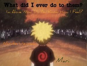 Lonely Naruto by kiko1325