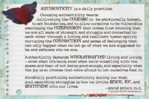 Brene Brown quote - Authenticity