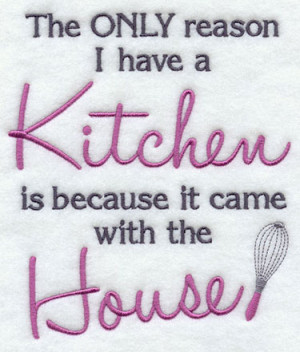 funny kitchen saying machine embroidery design.