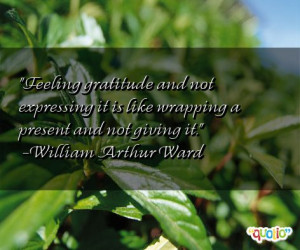 Feeling gratitude and not expressing it is