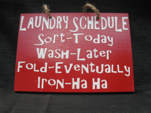 This is me. Ironing gets pushed off for as long as possible… (This ...