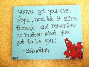 The Little Mermaid Sebastian Canvas Quote 11x14 by DreamThread