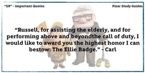 Up Pixar Movie Quotes Up study guide carl and