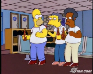moe goodness is homer s nonchalant reaction he s probably used to moe ...
